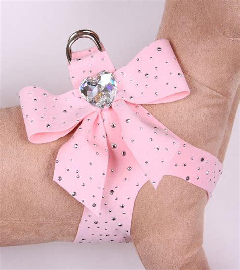 pink harness susan lanci bow swarovski harness baby pink stardust designer