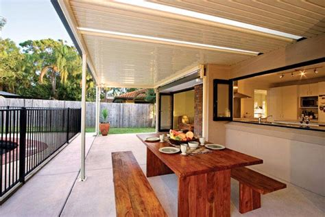 Flat Roof Awning by Colorbond Flat Roofs Sydney Solarguard Awnings