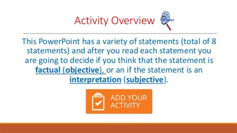 subjective and objective statements cd 34 week one pp on objective vs subjective statements