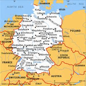 West Germany Map by Pics Photos Travel Guide Germany Maps Map North West
