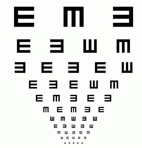 printable vision screening chart july 2009 visionary eyecare s blog quot the eye journal quot