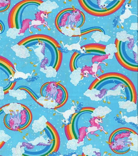 Home Decor Shopping Sites by Novelty Cotton Fabric Unicorns And Rainbows Jo Ann