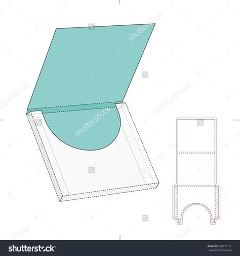 envelope pattern vector square wrap envelope and blueprint template stock vector