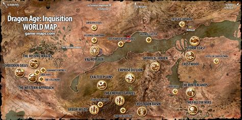 dragon age inquisition map  blog