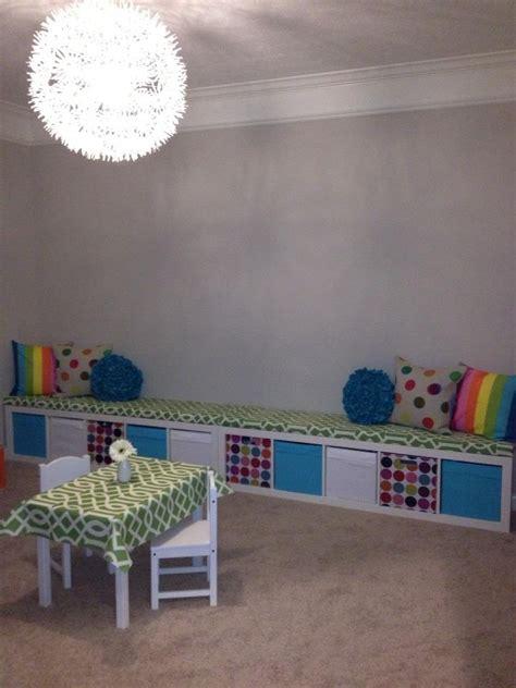 ikea playroom storage bench ikea expedit turned playroom storage bench playroom