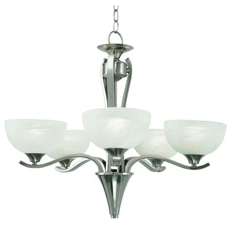 Bel Air Lighting Chandelier Bel Air Lighting 5 Light Pewter Chandelier With Polished Marbleized Glass Pl 7935 Ppw The Home