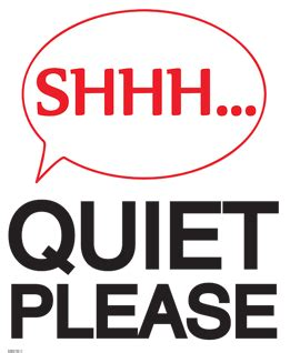 printable quiet signs pics for gt quiet please testing in progress sign