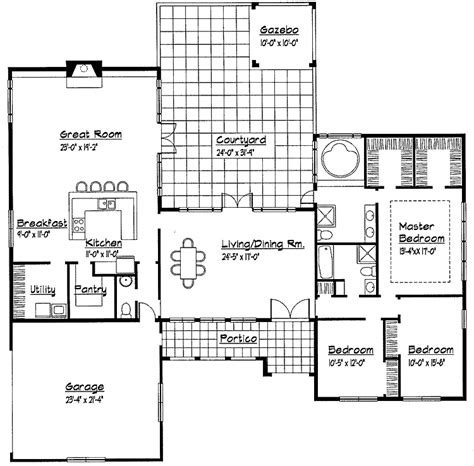 modern one story house plans single story spanish house plans single story small house