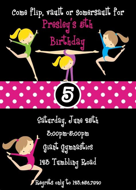 Free Printable Gymnastic Birthday Invitations Updated Free Invitation Templates Drevio Gymnastics Birthday Invitation Templates