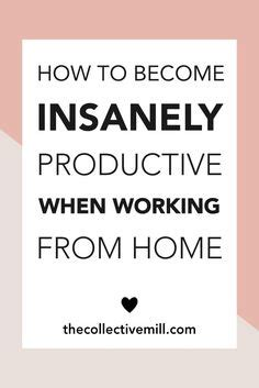 7 ways to stay productive while working from home tips