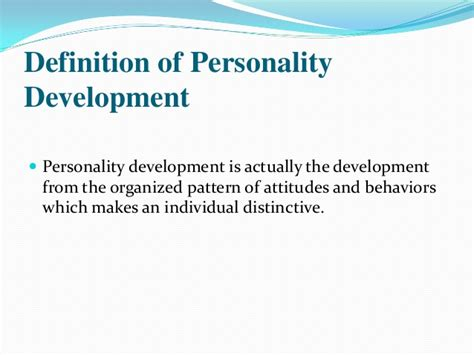 definition pattern of development personality development