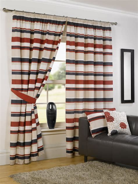 beef curtains picture brown and cream striped curtains tags 87 impressive