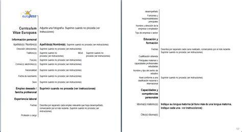 Plantilla De Curriculum Vitae Para Rellenar E Imprimir 302 Found
