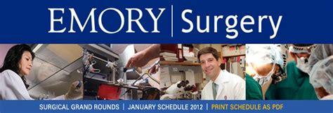 Emory Vs Vanderbilt Mba by Emory Surgery Grand Rounds January 2012