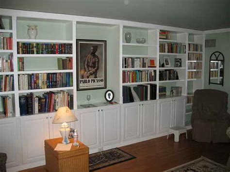 storage diy built in large bookshelves diy built in