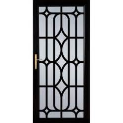 shop larson citadel nickel black aluminum security door