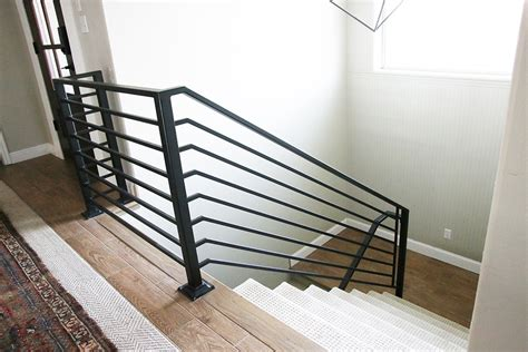 horizontal metal railing all the details on our new horizontal stair railing