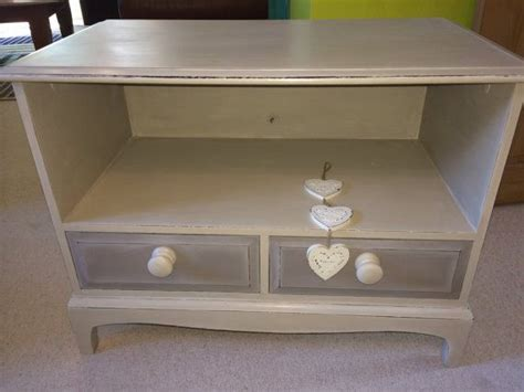 shabby chic distressed tv stand tv cabinet annie sloan