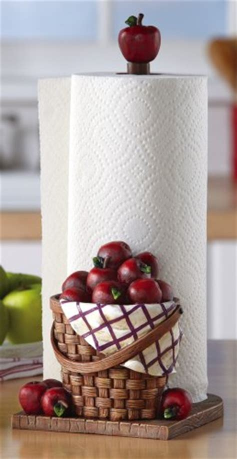 red apple kitchen paper towel holder foodclappers