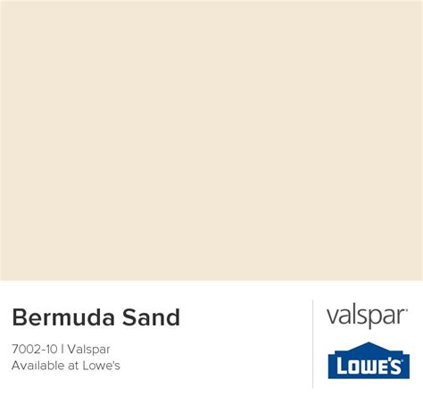 bermuda sand from valspar projects