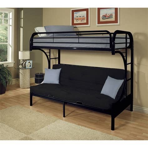Bunk Bed Frame With Futon Size Bed Futon Roselawnlutheran