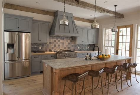 rustic grey kitchen cabinets rustic kitchen painted gray cabinets