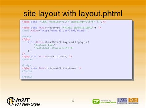 set layout zend introduction to zend framework