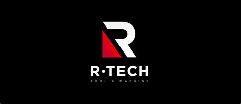 r logo design images logo design for r tech tool machine r logo