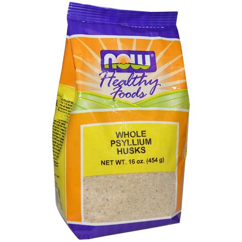 Powder Bath now foods whole psyllium husks 16 oz 454 g iherb com
