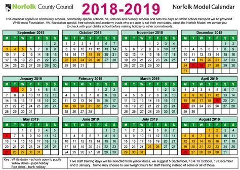 Calendar 2018 School Holidays Ncc 2018 19 Term Dates By Shs16 Issuu