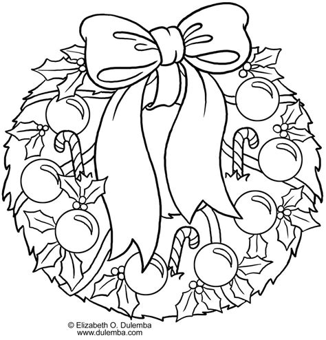 Free Coloring Pages Of Christmas Wreaths Wreaths Coloring Pages