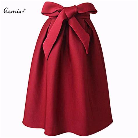 gamiss vintage skirt high waist pleated