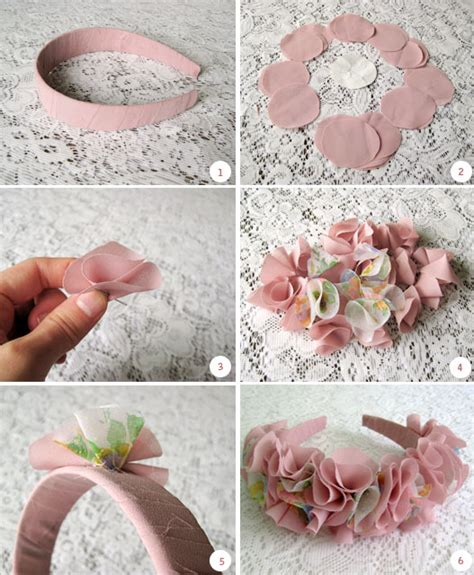 Handmade Fabric Flowers Tutorial - wear the canvas diy fri fabric flower headband