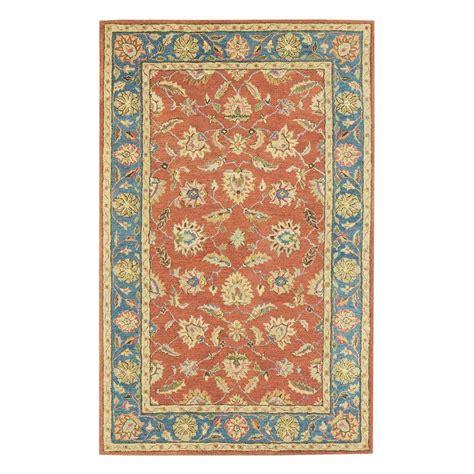 echelon area rug home decorators collection echelon blue 6 ft x 9 ft area rug 8784750310 the home depot
