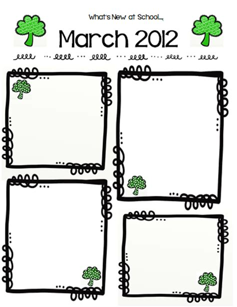 March Newsletter Template classroom freebies free frames and march newsletter