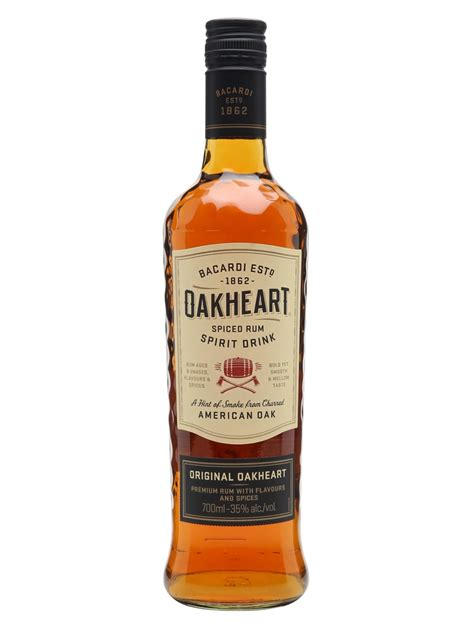 spiced rum bacardi oakheart spiced rum spirit drink the whisky exchange