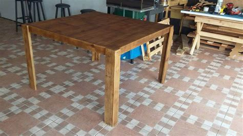 Coffee Table To Dining Table Diy Diy Pallet Square Shape Dining Table Pallet Furniture Diy