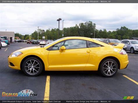 mitsubishi eclipse yellow 2009 mitsubishi eclipse gt coupe solar satin yellow dark