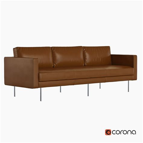 west elm axel sofa review west elm axel leather sofa 3d model max obj fbx cgtrader com