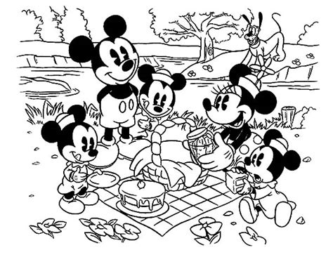 mouse family coloring page disney babies coloring pages goofy and pluto page cartoon