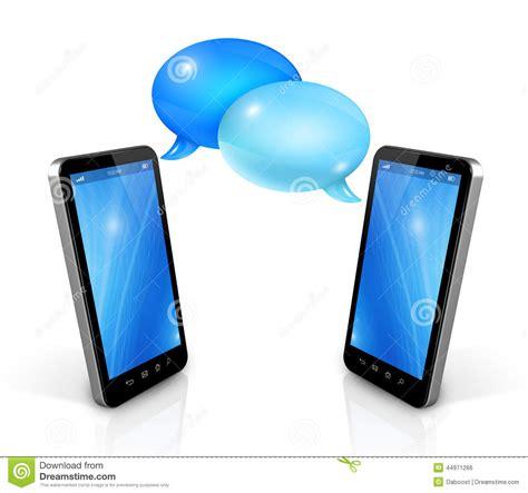 speech bubbles  mobile phones stock illustration image