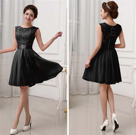 Dress Hitam dress hitam cantik model terbaru myrosefashion