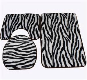 zebra bath mat zebra print black and white bath mat toilet rug set 3