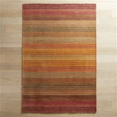 Pier One Rug by Graduated Stripe Rug 6x9 Russet Pier 1 Imports
