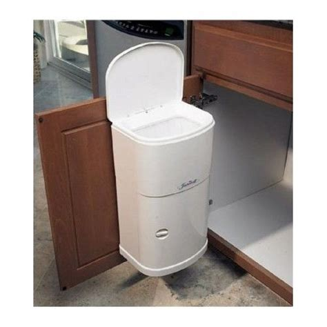 kitchen cabinet bins kitchen cabinet door mount trash can with automatic lid 4