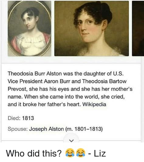 theodosia bartow prevost theodosia burr alston was the daughter of us vice