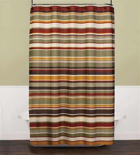 red stripe shower curtain cannon eastside stripe red shower curtain