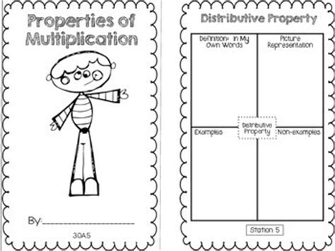 3 Oa 5 Worksheets by On Math Booklet 3 Oa 5 Properties Of Multiplication