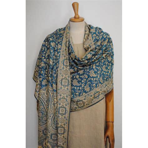 Pashmina Rawis Pasmina Rawis Viscose light blue gold shawl viscose pashmina rednerium
