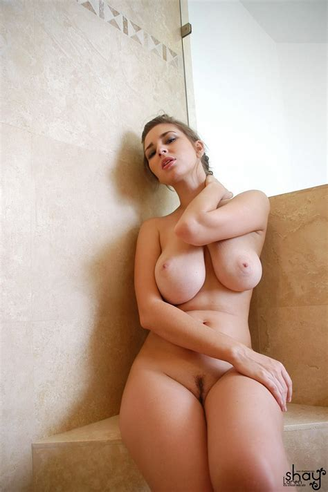 Busty Naked Solo Girl Shay Laren Showers And Gropes Her